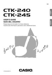 Casio CTK-240 Manuals