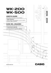 Casio Keyboard WK-500 Manuals