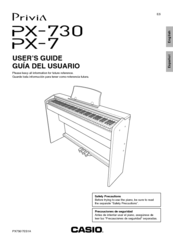 Casio Privia PX-7 Manuals