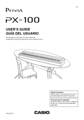 Casio Privia PX-100 Manuals