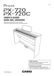 Casio Privia PX-720 Manuals