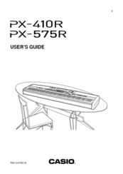 Casio PX-575R Manuals