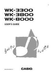 Casio WK-3300 Manuals