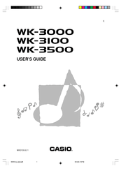 Casio WK-3000 Manuals
