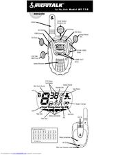 Cobra microTALK MT 725 Manuals