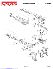 Makita BJR182 Manuals