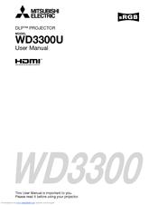 Mitsubishi WD3300U Manuals