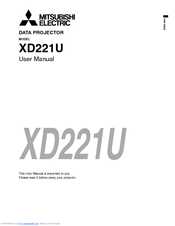 Mitsubishi Electric XD221U-G Manuals
