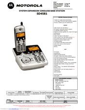 Motorola sd4581 Manuals