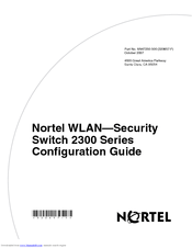 Nortel 2382 Manuals