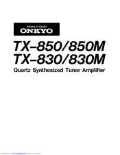Onkyo TX-850 Manuals