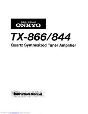 Onkyo TX-866 Manuals