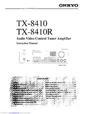Onkyo TX-8410 Manuals