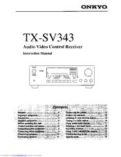 Onkyo TX-SV343 Manuals