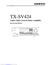 Onkyo TX-SV424 Manuals