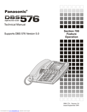 Panasonic DBS 576HD Manuals