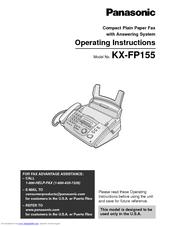 Panasonic KX-FP155 Manuals