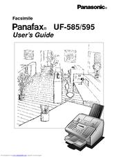 Panasonic Panafax UF-595 Manuals