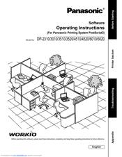 Panasonic WORKIO DP-6020 Manuals
