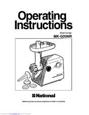 National MK-G20NR Manuals
