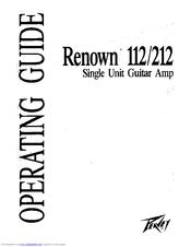 Peavey Renown 212 Manuals