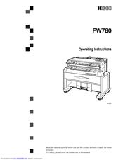 Ricoh FW780 Manuals