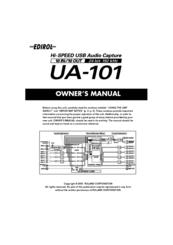 Edirol UA-101 Manuals