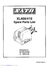 Sato XL410 Manuals