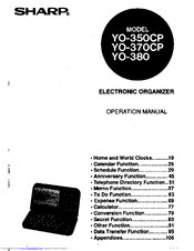 Sharp YO-370 Manuals