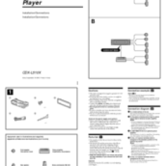 Sony Cdx L510x Wiring Diagram Rover 25 Radio Fm Am Compact Disc Player Manuals Installation Connections
