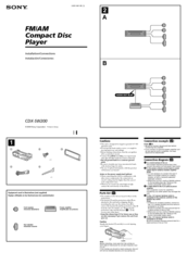 sony cdx sw200 wiring diagram 2005 honda accord fm am compact disc player manuals installation connections