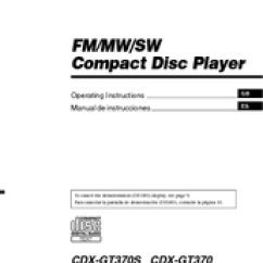 Sony Cdx Gt170 Wiring Diagram Power Supply Xplod Manuals And User Guides For We Have 1 Manual Available Free Pdf Download Operating Instructions