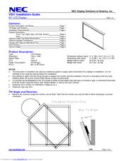 Nec MultiSync V551 Manuals