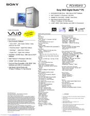 SONY VAIO PCV RS410 DRIVERS