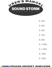Sound Storm SL 352 Manuals