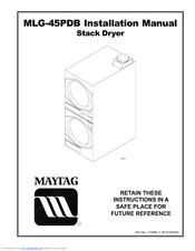 Maytag MLG45PDBWW Manuals