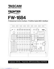 Tascam FW-1884 Manuals