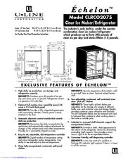 U-line CLRCO2075 Manuals