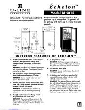 U-line Echelon BI 2015 Manuals