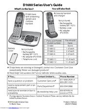 Uniden D1680 Manuals