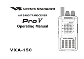 Vertex Standard VXA-150 Manuals