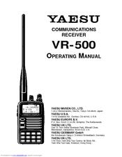 Yaesu VR-500 Manuals