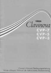 Yamaha Clavinova CVP-3 Manuals