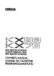 Yamaha KX88 Manuals