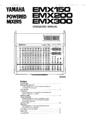 Yamaha EMX200 Manuals