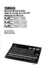 Yamaha MC802 Manuals