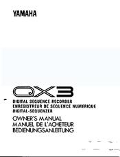 Yamaha QX-3 Manuals