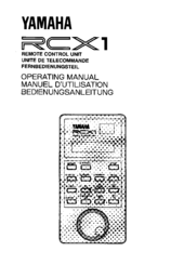 Yamaha RCX1 Manuals