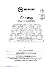 Neff T2766 Manuals