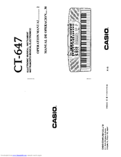 Casio CT-647 Manuals